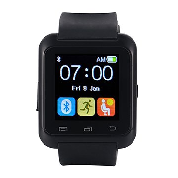 Bluetooth Watch SmartWatch Bluetooth 3.0 Silicone Wristband for Apple iOS smartphone iphone 4 / 4S / 5 / 5C / 5S / 6 Android Samsung S2 / S3 / S4 / Note 2/3 Note HTC Nokia Black