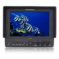 """Lilliput 663/O Hmdi Output 7""""Led Monitor 1280X800 Ips 800:1 Contrast With Suit Case+Folding Sun Shade Cover For Dv Dslr Video Camera Such As Canon 500D 600D 1100D 60D 5Dii Sony Camera By Viviteq Inc"""