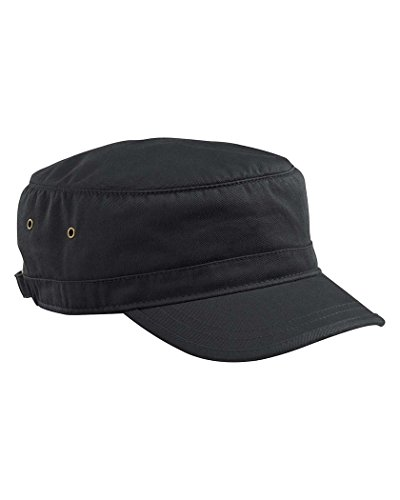 Econscious Organic Cotton Twill Corps Hat-One Size (Black) front-884325