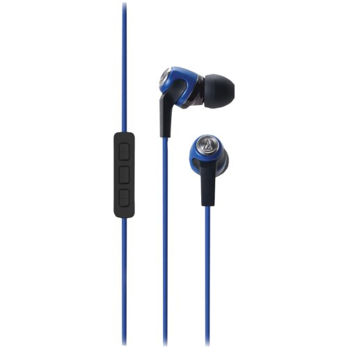 Audio Technica Ath-Ck323Ibl Mobile Phone Headphones With Microphone