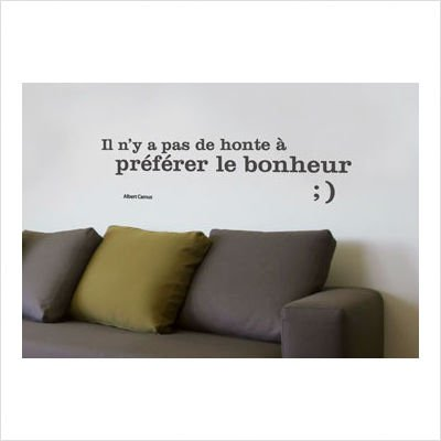 Blabla Happiness (French) Wall Decal Color: White