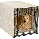 Dog Crate Cover Set with Mat and Bumper - Khaki - 30 in.