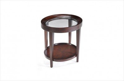 Cheap Magnussen Carson Wood Oval End Table (T1632-07)