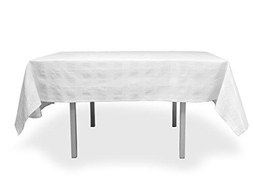 Große Tischdecke rechteckig Baumwolle 140x300 cm LYAM weiß
