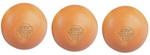 Champion Three Orange Lacrosse Balls - Ncaa Nfhs Certified