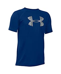Under Armour Boys' Tech Big Logo T-Shirt, Caspian (422), Youth Medium
