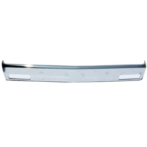 CarPartsDepot, Front Bumper Face Bar Chrome Steel New Replacement w/o Molding Hole, 340-15102-10 GM1002365 14033726 (Blazer Front Bumper compare prices)