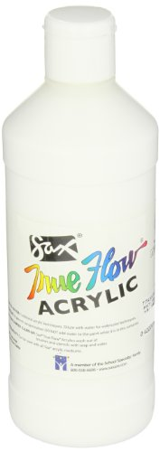 Sax 439265 True Flow Medium Bodied Acrylic Paint - Pint - Titanium White