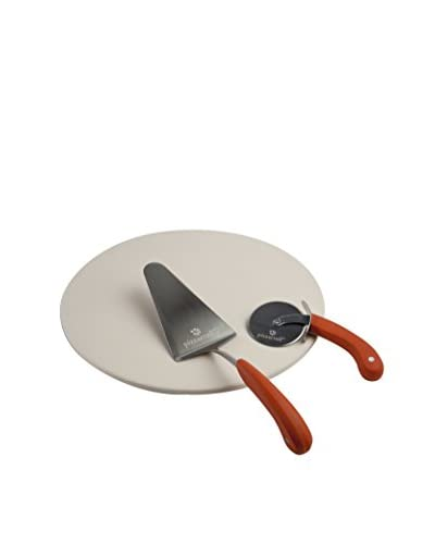 Pizzacraft 3-Piece Round Pizza Stone with Cutter & Server