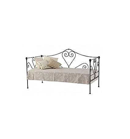 Sofá cama de forja Granada - Gris sumi patinado