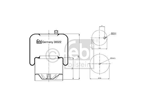 Febi Bilstein 38322 Boot, air suspension