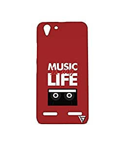 Vogueshell Music Is My Life Printed Symmetry PRO Series Hard Back Case for Lenovo Vibe k5
