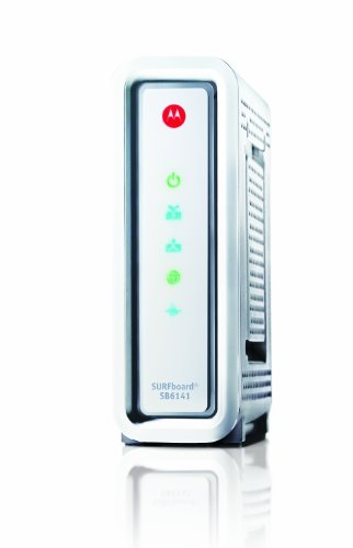 Motorola SurfBoard SB6141 DOCSIS 3.0 Cable Modem - Retail Packaging - White