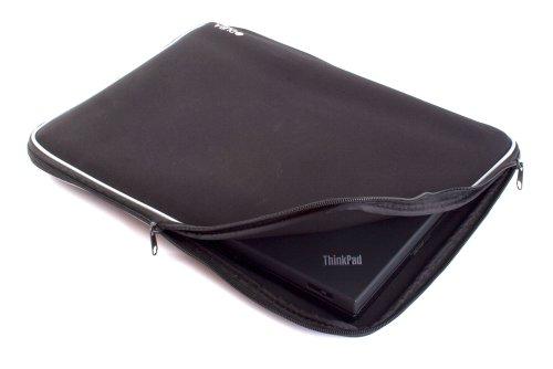 "Duragadget Splash Resistant Dual Zipped Black Protective Laptop Case / Sleeve For Hp Envy 14 Inch 14"" Spectre Ultrabook 14-3010Nr (Intel Core I5-2467M, 128Gb Msata, Windows 7 Premium, Radiance Backlit Keyboard, Webcam)"