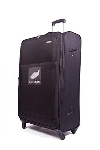 "32"" 4 Wheel Lightweight World lightest Suitcase Trolley Cases Luggage (BLACK 2107)"