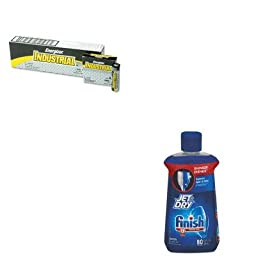 KITEVEEN91RAC75713 - Value Kit - Finish Jet-Dry Rinse Agent (RAC75713) and Energizer Industrial Alkaline Batteries (EVEEN91)