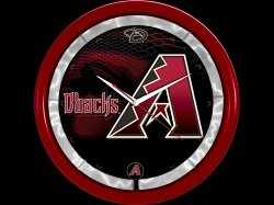 Authentic Street Signs Arizona Diamondbacks Plasma Clock by Authentic Street Signs