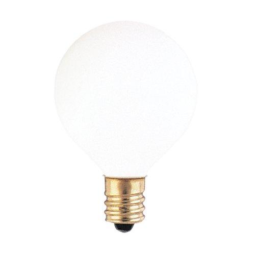 25 Pack 25 Watt G12 Candelabra Base 130 Volts 2500 Hour White Globe Lightbulb