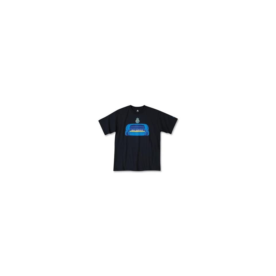 Real Madrid 08 09 Stadium Soccer T Shirt (Navy) Sports on PopScreen 097f5dfbd