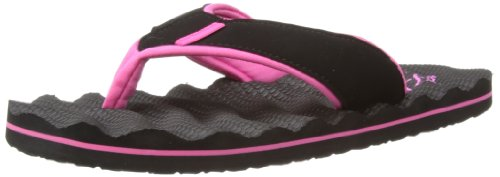 Animal Womens Swish Ripple Thong Sandals FM4SE325 Black 7 UK, 40.5 EU, Regular