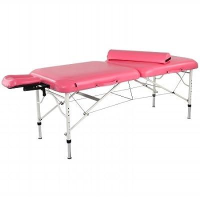 "Master Massage Calypso 30"" Ultra Light UV Pink Portable Massage Table LX Kit"