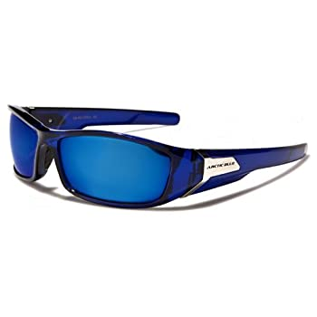 ArcticBlue Lunettes de Soleil - Sport - Cyclisme - Ski - Conduite - Motard - Plage / Mod. Kite Bleu Cristal Miroir / Taille Unique Adulte / Protection 100% UV400