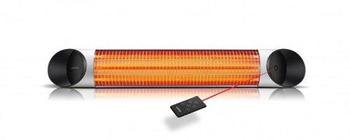 design infrarot heizstrahler mit 2000 watt inklusive fernbedienung 4 heizstufen timerfunktion. Black Bedroom Furniture Sets. Home Design Ideas