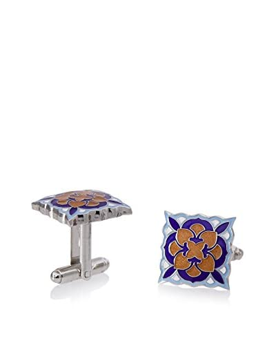 L2 by LOMA Deco Bloom Cufflinks, Royal Blue