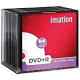 Brand New. Imation DVD+R Recordable Disk Write Once Cased Printable 16x Speed 120min 4.7Gb Ref 22374 [Pack 10]