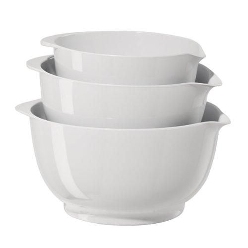 Oggi 3-Piece Mixing Bowl Set, White