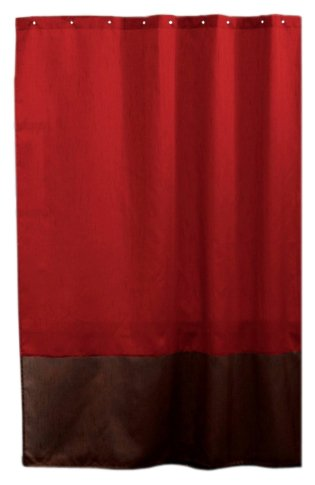 Lush Decor Prima Shower Curtain, Red/Chocolate