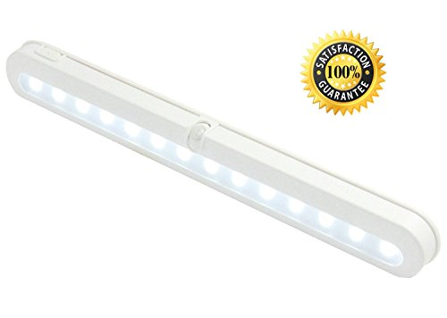 Battery Operated Motion Sensor Light - JEBSENS T01 LED Closet Light, Under Cabinet Led Lighting, Motion Sensor Light Switch, 14 Bright Cool White LED, Adjustable Wireless Portable, On/Off/Auto Modes (Torch Mounting Bracket compare prices)