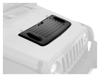 Bestop 81713-01 Black Hood Applique For 07-13 Wrangler Jk Including Unlimited