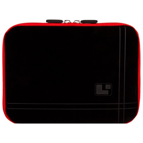 8 Inch Tablet Case Fire Red Neoprene Bubble Padded Zippered Sleeve (Fits the Barnes and Noble Nook Color, Simple Touch, Tablet, and Touch)