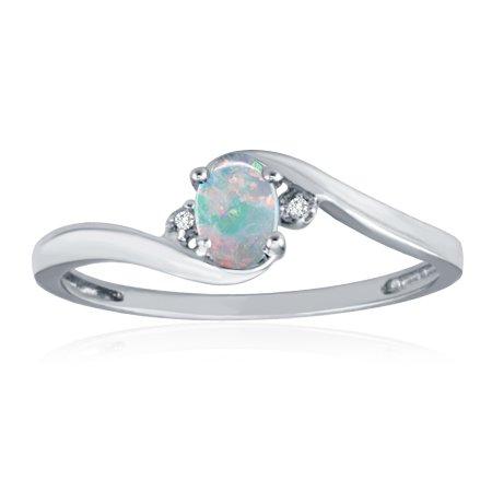 White Gold K Opal Ring