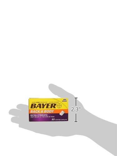 Bayer Extra Strength Back & Body 500 mg Caplets, 100 ea ...