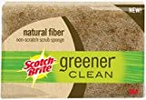 Scotch-Brite Natural Fiber Scrubbing Sponge 97030, 1-Count (Pack of 12)