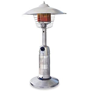UniFlame Stainless Steel Round Table Top Outdoor Patio Heater