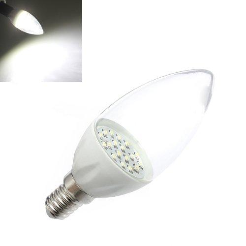 E14 2W Pure White Smd3014 Led Candle Light Lamp Bulbs 85-265V