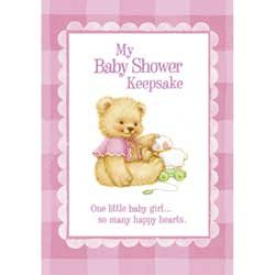 Sweet Bear Pink - Girl Baby Shower Keepsake - 1