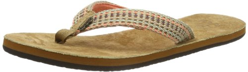 Reef Womens REEF GYPSYLOVE TOBACCO/CORAL/M Flip-Flops multi-coloured Mehrfarbig (TOBACCO/CORAL/M) Size: 38/39