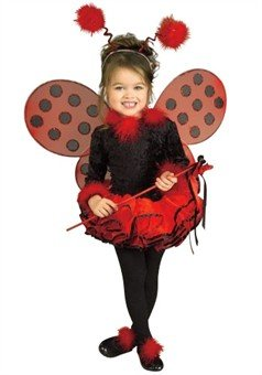 Little Girls' Deluxe Ladybug Costume Toddler