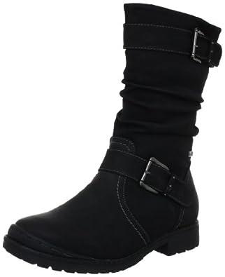 Indigo 466 562, Mädchen Stiefel, Schwarz (schwarz 002), EU 38