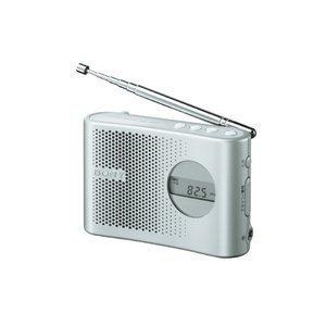 【Amazonの商品情報へ】SONY TV(1-3ch)/FM/AM PLLシンセサイザーハンディーポータブルラジオ シルバー ICF-M55/S