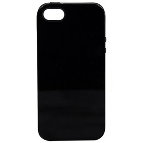 Special Sale Sonix Inlay Hybrid Case for iPhone 5 & 5s  - Retail Packaging - Onyx (Black/Black)