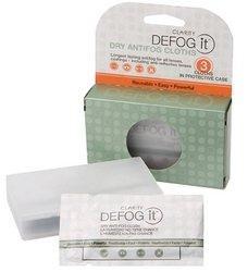 Clarity Defog It Anti-Fog 3 Dry Reusable Wipes