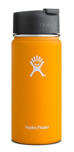 Hydro Flask 12 oz Vacuum Insulated Stainless Steel Water Bottle, Wide Mouth w/Hydro Flip Cap, Mango (Paper Ice Cream Cups 12 Oz compare prices)