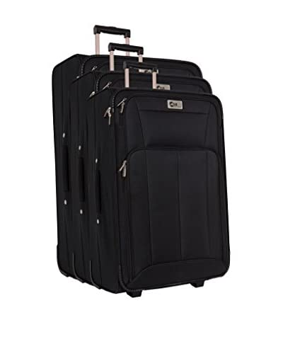 Compagnie du bagage Set de 3 trolleys semirrígidos   NULL