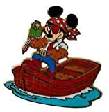 Disneyland Resort Paris Mickey As Pirate On Row Boat Pin Badge