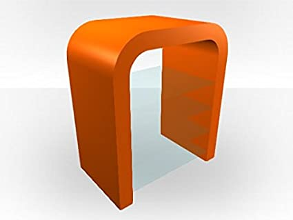 TV Media Unit U-Shape - Orange Gloss